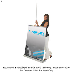 Imagine Retractable Banner Stand with Interchangeable Graphic Print - Single-Sided