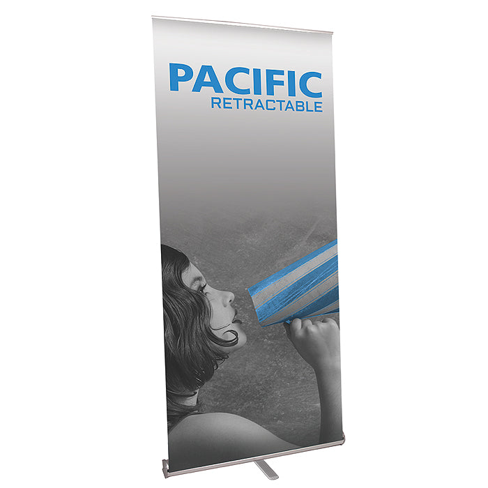 Pacific  1000 Banner Stand - Up Close