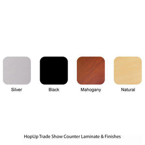 HopUp Trade Show Counter Laminate & Finishes