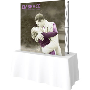 5 Ft. (2 x 2 Quad) Embrace Tabletop Display Without End Caps - Right Side