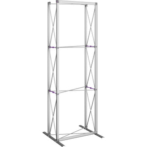 2 1-2 Ft. (1 x 3 Quad) Embrace Full Height Trade Show Display With End Caps - Frame Only