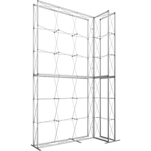 10 x 15 Ft. (3 x 3 Quad) Embrace Stackable Double Sided Trade Show Display With End Caps - Frame Left View