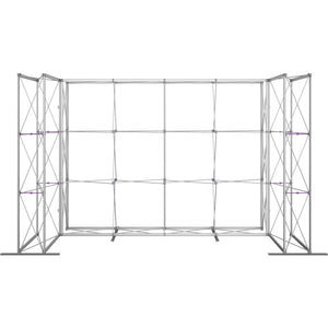 14 Ft. Embrace U-shape Full Height Single Sided Front Graphic Trade Show Display With End Caps - Frame Front View
