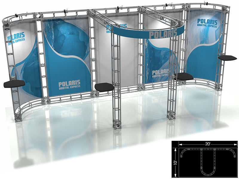 Polaris Express 10' x 20' Truss Trade Show Display Booth