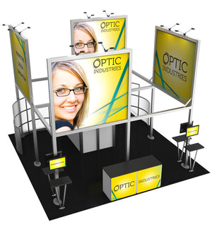20' x 20' Hybrid Pro Modular Island Exhibit Kit 19 - Product View 4