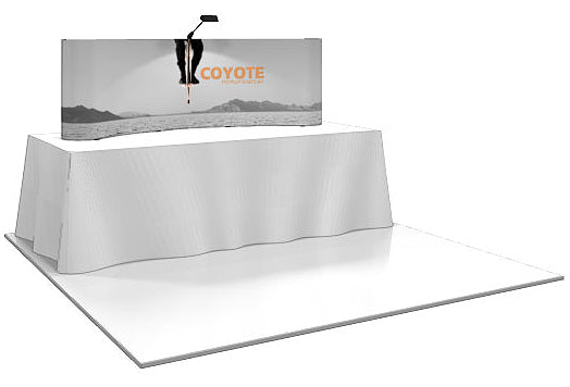 6 Ft. (2 x 1 Quad) Curved Coyote Table Top  Pop Up Display With Full Graphics