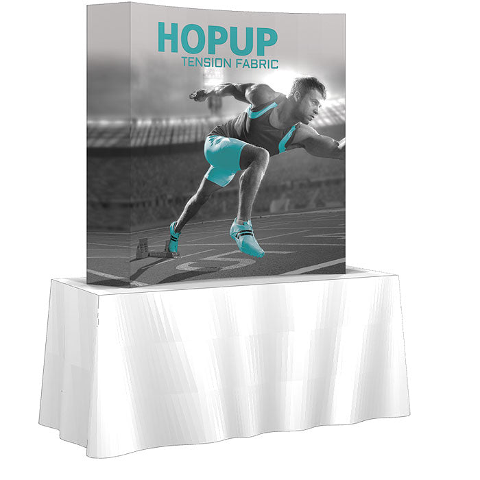 6 Ft. (2 x 2 Quad) Curved Hopup Table Top Display With End Caps Replacement Graphics