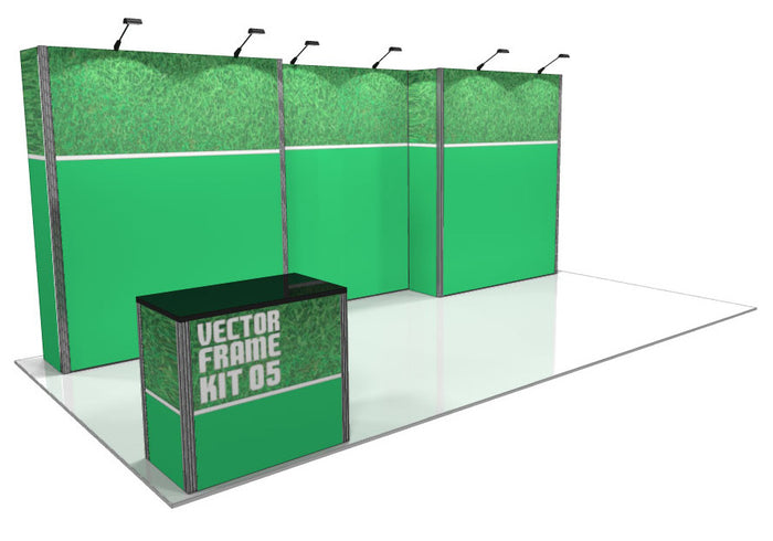 Vector Frame 5 10' x 20' Trade Show Display Kit