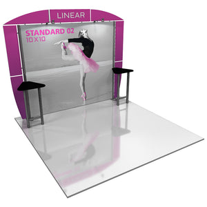 Linear Standard 10' x 10' Backwall Display Kit 02