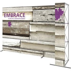 11 Ft. Embrace L-shape Full Height Double Right Sided Front Graphic Trade Show Display Without End Caps - Right View 1