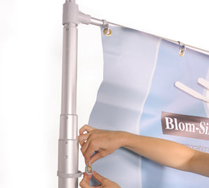 Wind Dancer Telescopic Outdoor Banner Stand with Graphic Print - Product Assebly - Stage 2
