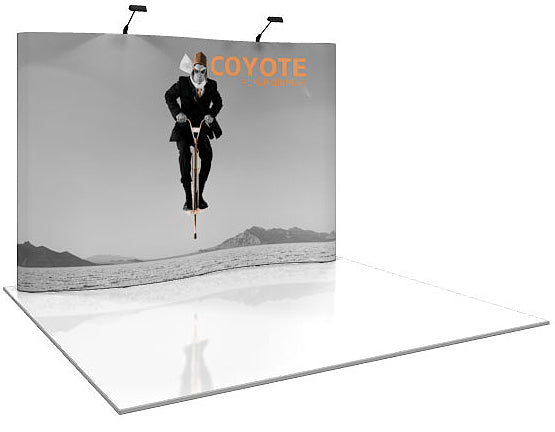 10 Ft. (4 x 3 Quad) Serpentine Coyote Pop Up Display With Full Graphics