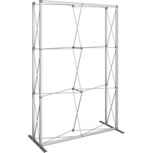 5 Ft. (2 x 3 Quad) Embrace Full Height Trade Show Display Without End Caps - Frame Only