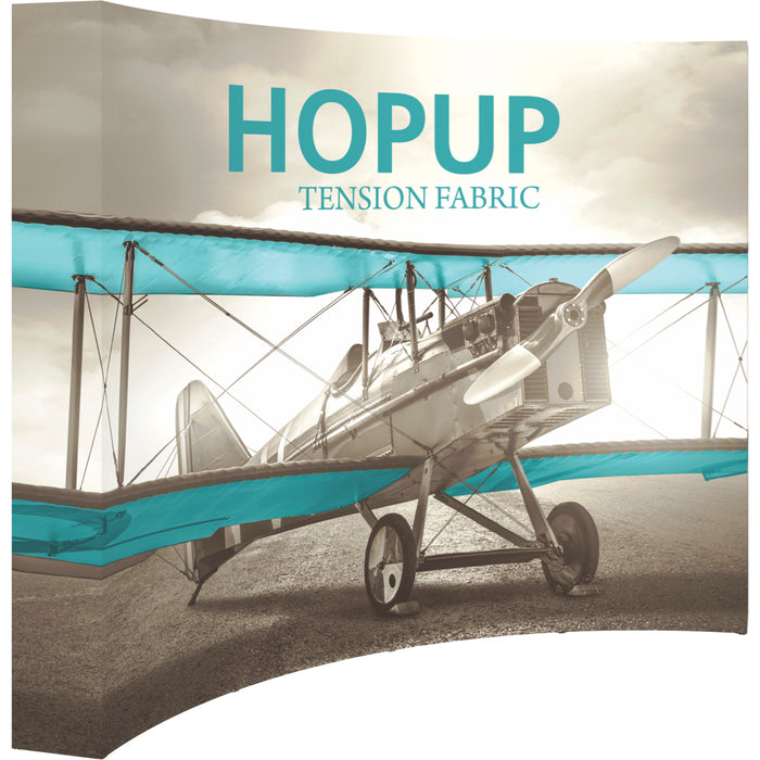 10 Ft. (4 x 3 Quad) Curved HopUp Trade Show Display With End Caps
