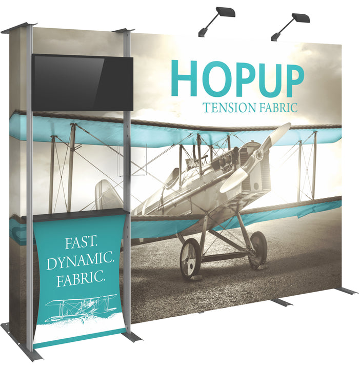 10 Ft. (4 x 3 Quad) Straight HopUp Trade Show Display  Dimension Kit 03
