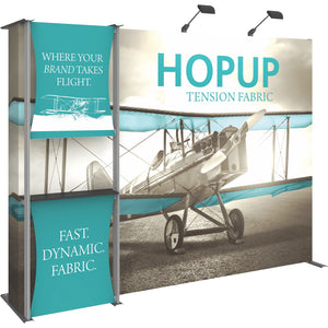 HopUp Straight Trade Show Display Dimension Kit 04 with End Caps - Left Side View