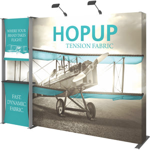 HopUp Straight Trade Show Display Dimension Kit 04 with End Caps - Right Side View