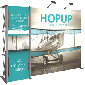HopUp Straight Trade Show Display Dimension Kit 04 without End Caps - Left Side View