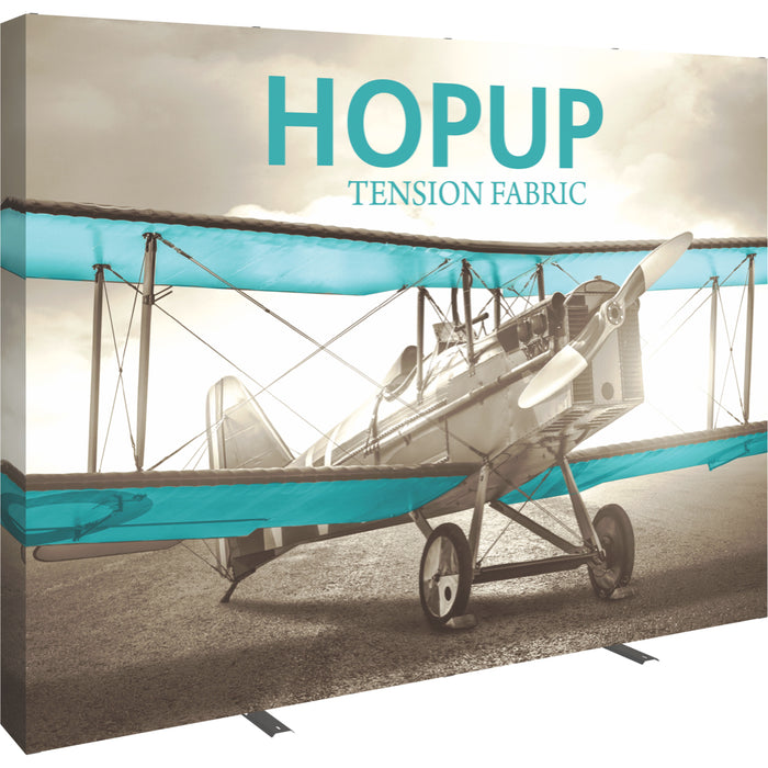 10 Ft. (4 x 3 Quad) Straight HopUp Trade Show Display With End Caps