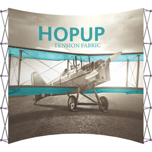 Curved HopUp Trade Show Display Without End Cap - Front View
