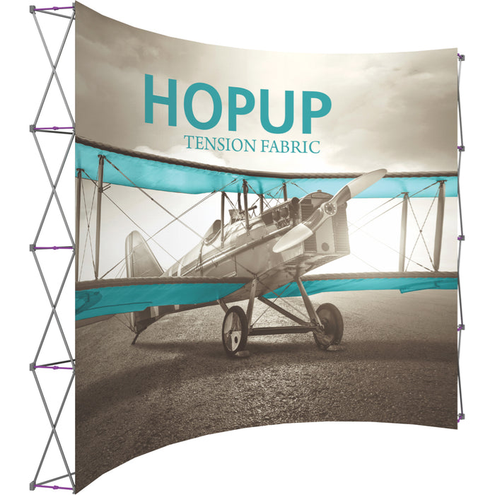 13 Ft. (5 x 4 Quad) Curved HopUp Trade Show Display Without End Cap