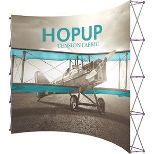 Curved HopUp Trade Show Display Without End Cap - Right Side View