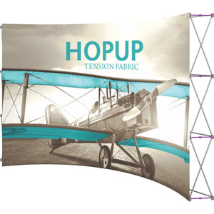 Curved Hopup Trade Show Display Without End Caps - Right Side View