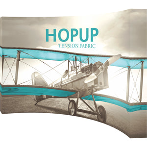 Curved Hopup Trade Show Display With End Caps - Right Side View
