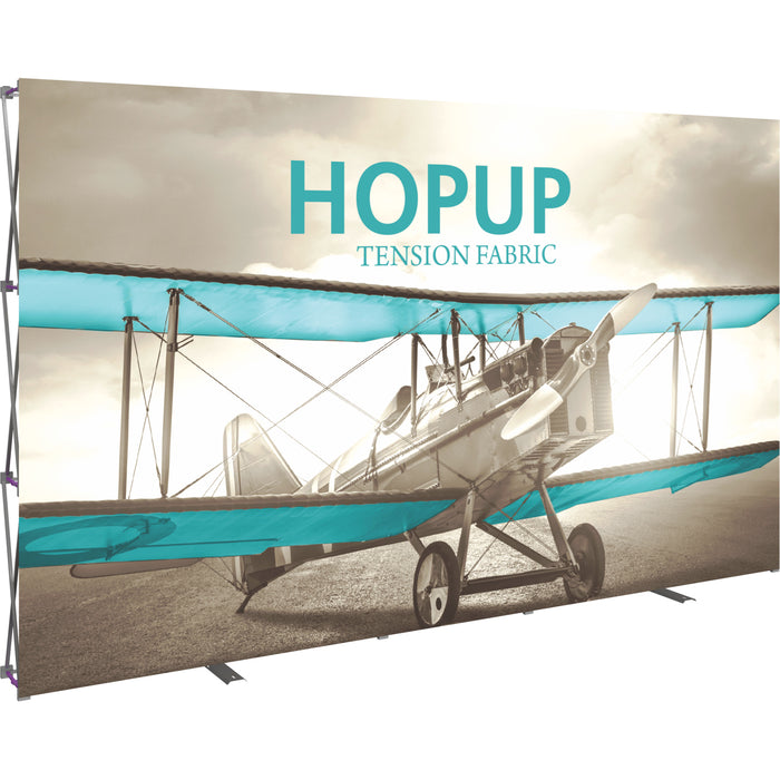 12 Ft. x 8 Ft. (5 x 3 Quad) Straight HopUp Trade Show Display Without End Caps [Graphic Only]