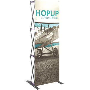 Straight HopUp Trade Show Display Without End Caps - Left Side View