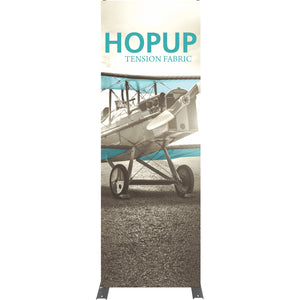 Straight HopUp Trade Show Display With End Caps - Front View