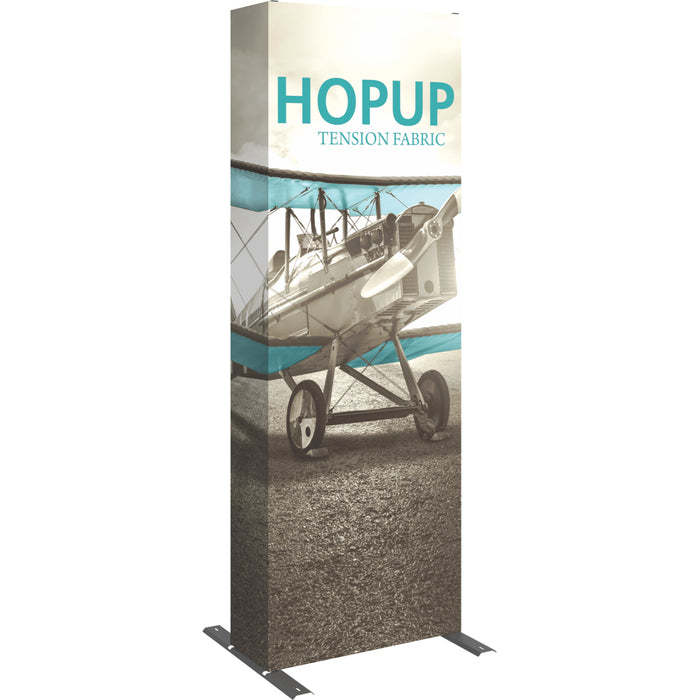 3 Ft.  x 8 Ft. (1 x 3 Quad) Straight HopUp Trade Show Display With End Caps
