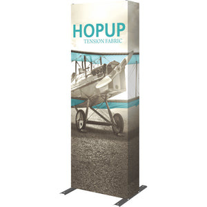 Straight HopUp Trade Show Display With End Caps - Right Side View