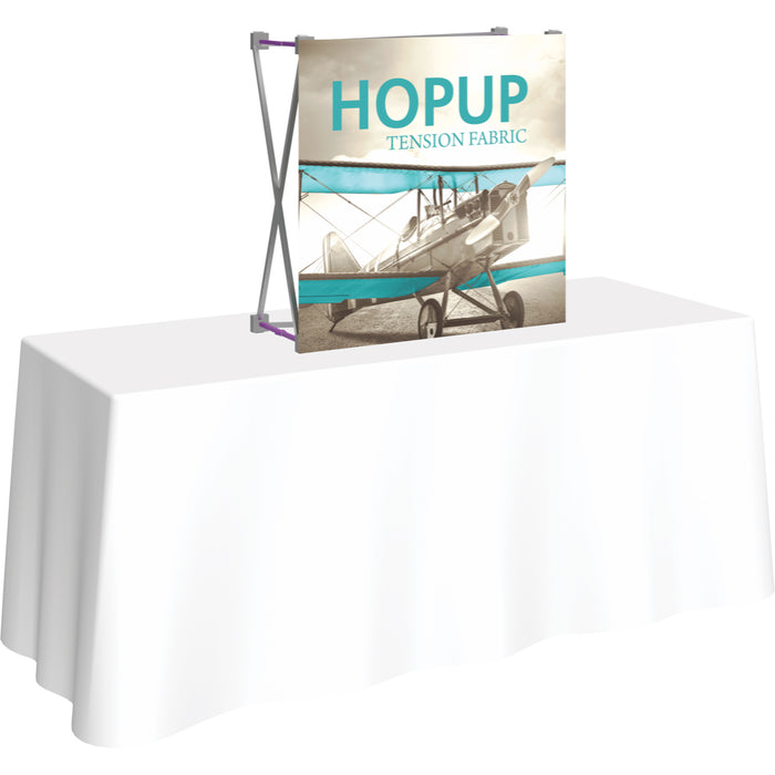 3 Ft. (1 x 1 Quad) Straight HopUp Table Top Display Without End Caps [Graphic Only]