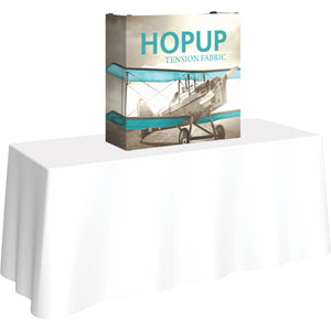 Straight HopUp Table Top Display With End Caps - Left Side View