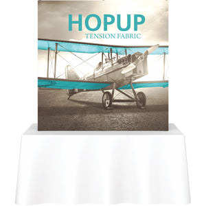 Straight Table Top HopUp Display Without End Caps - Front View