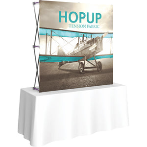 Straight Table Top HopUp Display Without End Caps - Left Side View