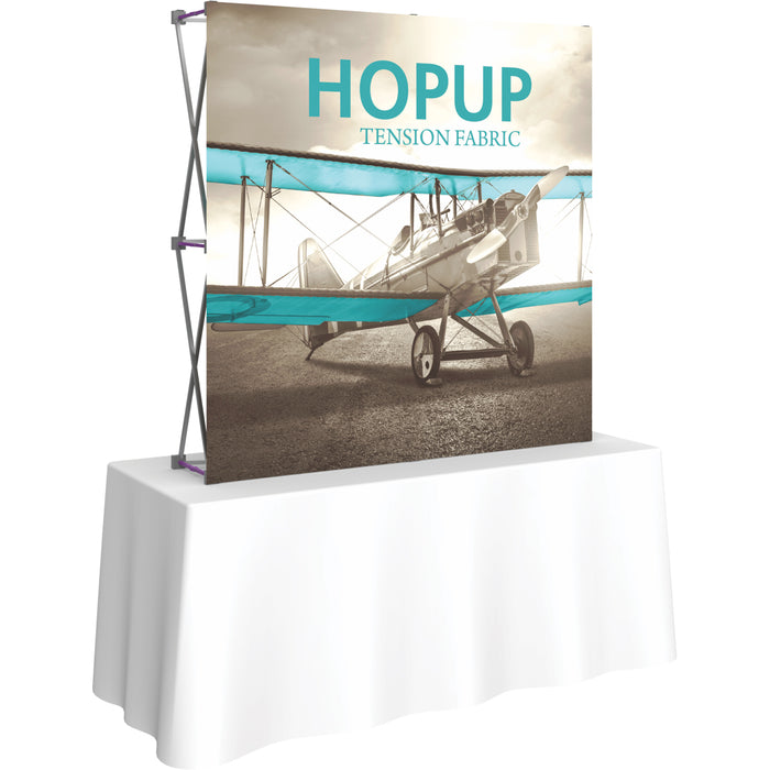 5 Ft. (2 x 2 Quad) Straight Table Top HopUp Display Without End Caps