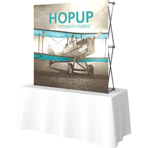 Straight Table Top HopUp Display Without End Caps - Right Side View