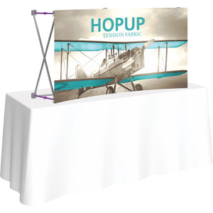 Curved HopUp Table Top Display Without End Caps - Left Side View