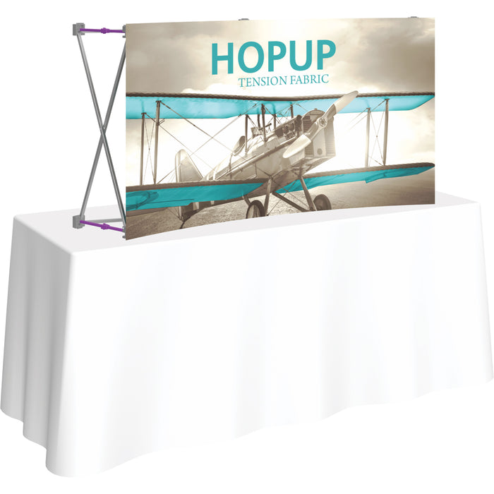 5 Ft. x 2 Ft. (2 x 1 Quad) Curved HopUp Table Top Display Without End Caps