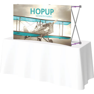 Curved HopUp Table Top Display Without End Caps - Right Side View