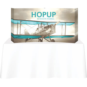 Curved HopUp Table Top Display With End Caps - Front View
