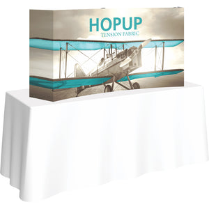 Curved HopUp Table Top Display With End Caps [Graphic Only]