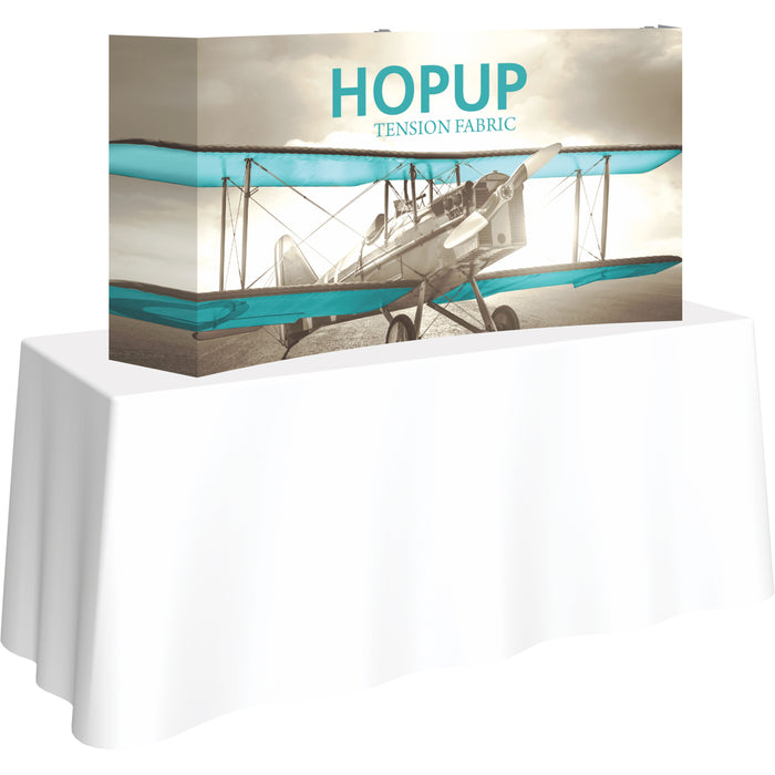 5 Ft. x 2 Ft. (2 x 1 Quad) Curved HopUp Table Top Display With End Caps