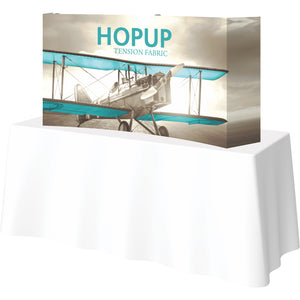Curved HopUp Table Top Display With End Caps - Right Side View
