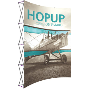 Curved HopUp Trade Show Display Without End Cap - Left Side View