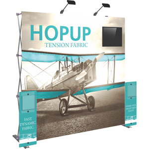 HopUp Straight Trade Show Display Dimension Kit 01 without End Caps - Left Side View