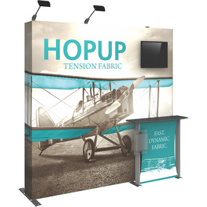 HopUp Straight Trade Show Display Dimension Kit 02 with End Caps - Left Side View
