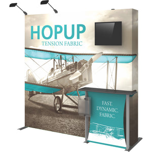 HopUp Straight Trade Show Display Dimension Kit 02 with End Caps - Right Side View